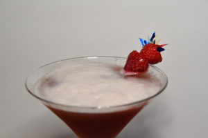 Froth on the top of a Southern French Martini