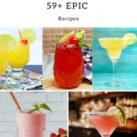 59+ Epic quarantine cocktails - collage of 5