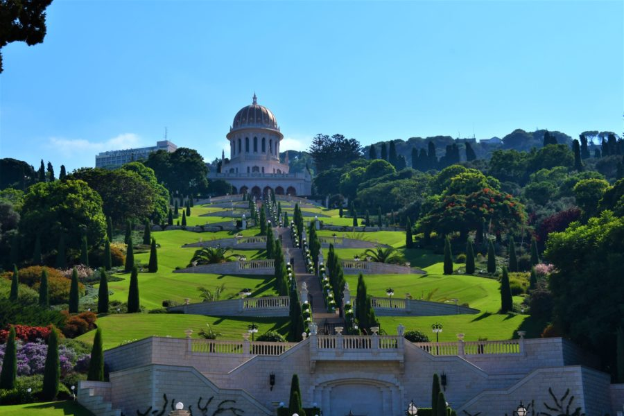 The base of the Baha'i Garden; one thing you should do in Haifa, Israel