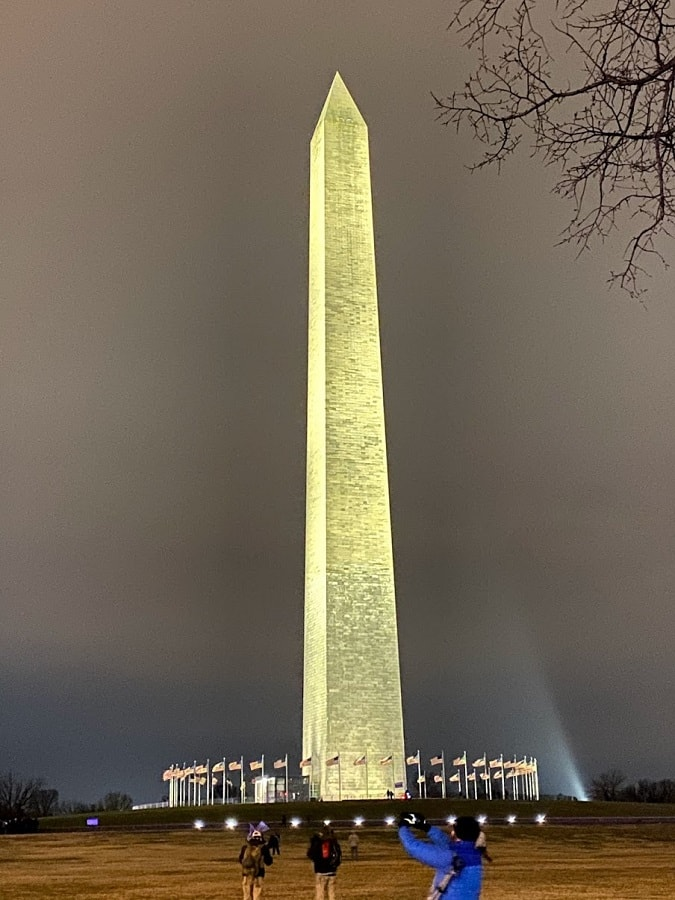 An American Patriot tale - The Washington Monument early morning 1-6-2021